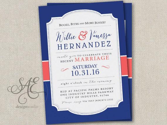 Elopement Wedding Invitations: Wedding Elopement Reception Invitations Invites By