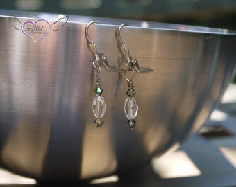 Gray and Clear Swarovski Crystal Earrings