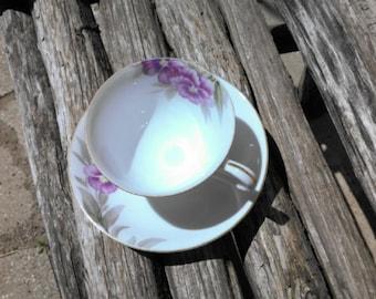 Vintage Purple Violets Teacup