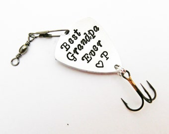 Best Grandpa Ever Personalized Fishing Lure, Grandfather of the Bride, Catch a BIG one, Personalized Papa Gift, Outdoors sport custom spoon
