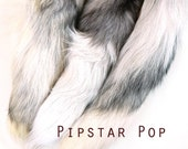 White Tundra Winter Fox Tail - Real fur keychain, cosplay tail, and purse accessory