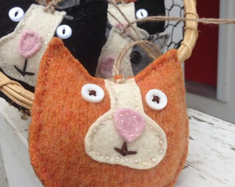 Orange Tabby cat ornament