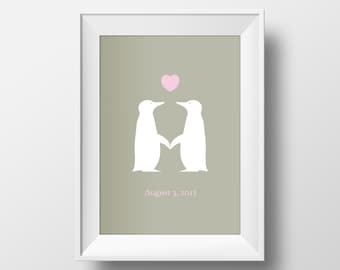 Any Print Any Size Digital Download. Print At Home Or Online. Anniversary, Birthday, Gift, Birth, Christening.