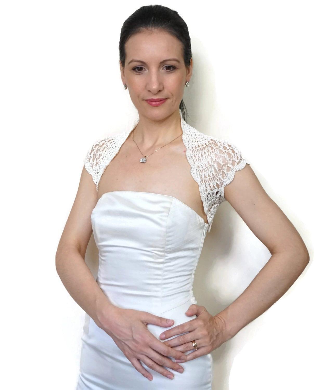 Cream Bolero Shrug Bridal Lace Bolero Wedding Lace Shrug