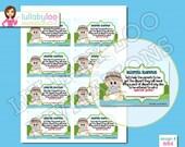 Fishing Diaper Raffle Tickets Baby Shower Game