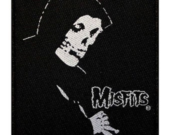 "Band ""Misfits"" Evilive Crimson Ghost Skull Horror Punk Iron On Applique Patch"