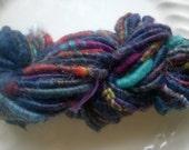 Handspun Yarn: Core Spun Merino and Mohair in Multi