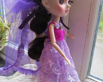Dress, Bustle/cloak/headpiece For Tangkou, Pullip, Blythe, J-Doll