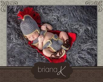 PATTERN Instant Download, Gladiator/Roman/Spartan Newborn Set