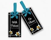 With Patient / On Phone please do not disturb door sign doorknob hanger - office or school bee themed plaque - SD40