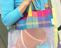Vacation Beach Tote - Air Mesh Tote - Multi-Purpose Tote - Beach Bag - Airy Utility Bag - Laundry Bag - Beach Toys - No More Sand Bag