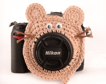 Mouse Camera Buddy, Lens Critter, with Squeaker option, Photo Prop, Photo Accessory, Animal Squeaker Lens Buddy, Photography Gift