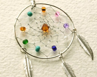 Family Necklace - Dream Catcher Necklace - Free Shipping
