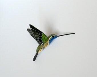 hummingbird art paper machè sculpture birds ornaments
