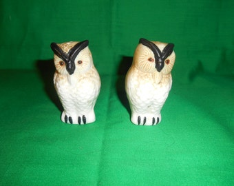 One (1), Pair of Milk Glass, Salt & Pepper Shakers, in the Shape of Owls.