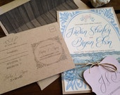 Barn Romance Collection DEPOSIT - Wedding Invitation - Vintage Rustic Chic - Eco Friendly - Printed & Assembled - Digital - DIY - Printable