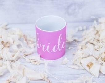 Personalised BRIDE, Bridesmaid, Groom, Wedding Mug