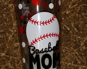 Personalized Baseball, Softball, Basketball, Football, Soccer Ball-Mom, Dad, Sister, Aunt Tumbler Cup/ Sports Tumbler