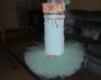 Ariel Mermaid Costume Flower Girl Tutu Dress