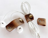 Cute Personalized Leather  Cable Organizer