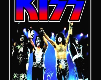 KISS Farewell Tour - The Last KISS Pay Per View Concert Stand-Up Display - Rock Band Collectibles Collection Collector Gift Memorabilia