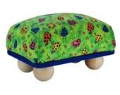 """Large 6"""" x 4"""" Ladybug Pincushion with Feet"""
