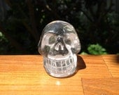 Clear Quartz Crystal Skull - Cleansed during Full Moon Lunar Eclipse - 90 grams