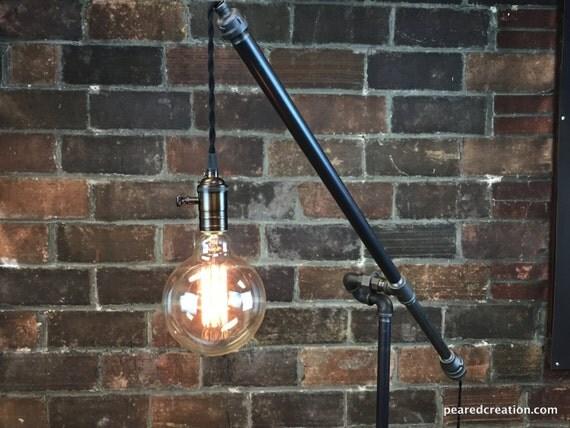 Industrial floor lamp articulating pulley lamp pendant - Lampadaire industriel vintage ...