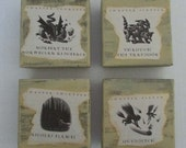 Harry Potter Gift Party large jewelry trinket gift boxes set of 4 boxes Quidditch Nicolas Flamel