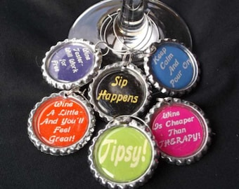 funny wine charms, funny drink charms, funny wine sayings, drink charm, wine charms, hostess gift, birthday gift, grape lover gift, got wine
