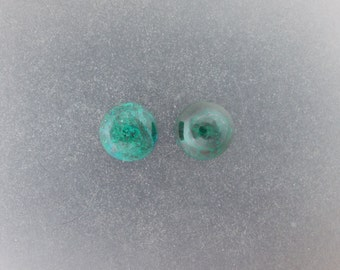Chrysocolla Malachite 12mm round Cabochon pair