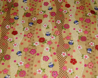 Owls  Japanese Cotton Fabric