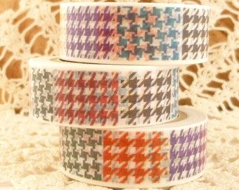 Plaid Abstract Colorful Washi Tape - 910