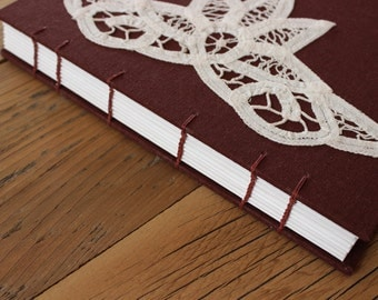 Brown, Linen Lace Journal - The Uncut Book