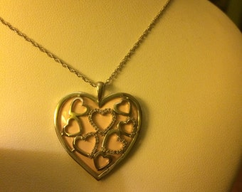 Gorgeous sterling silver heart necklace