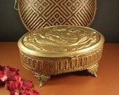 Grand Size Antique Victorian Art Nouveau Jewelry Casket // Wedding Box Reliquary // Trinket Dresser // ORIGINAL Lining