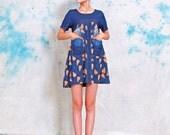 pears summer dress cotton dress linen cotton maxi dress Irregular dress short sleeves dress large pockets