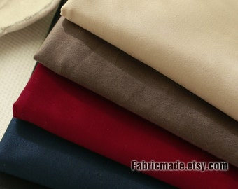 Solid Cotton Fabric, Beige Brown Wine Navy Blue Black Cotton For Clothing Suits Pants -  1/2 yard