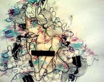 Large art print - Wall Art - Poster wall art - Art Print - Poster print - Wall decor - Watercolor art print - Giclee art print