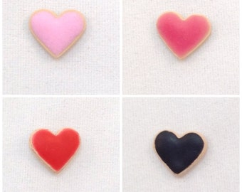 Heart Dollhouse Cookie, Dollhouse Sweets, 1:12 Scale Miniature, Choose Your Color