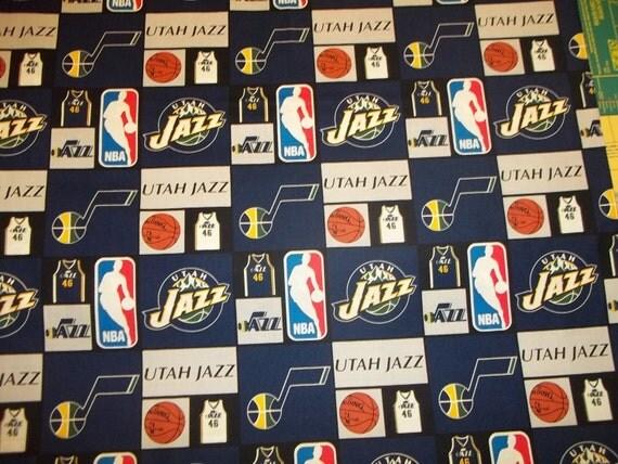 UTAH JAZZ Nba Basketball Fabric 1 Yard Piece Mult