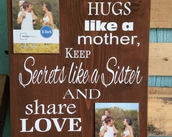 Aunts.... All about your Aunt, wood plaque with two frames and you can add her name.