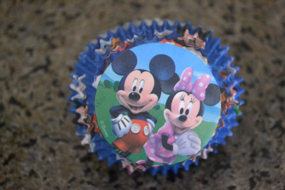 18 mickey minnie cupcake liners and cupcake toppers from for Liner piscine 3 50 x 0 90