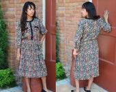 Floral Dress, Small Women's Vintage Dress, Flowered Dress, Breli Originals Ladies' Dress, Office, Secretary, Made in the U.S.A.