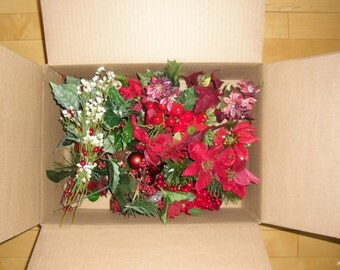 Christmas Supplies - Millinery Supplies, Wreaths, Arrangements, Floral Picks, Silk Roses, Flock Poinsettias, Berry Picks, Holiday Decor