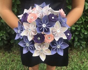 Shabby Chic -Paper Flower Bouquet // Kusudama Origami Bouquet/ Flower Arrangement/ Wedding / Bridal Bouquets