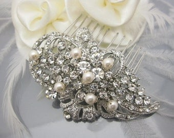 Bridal hair comb pearl wedding comb wedding hair comb bridal headpiece bridal hair accessory wedding hair jewelry bridal haircomb wedding