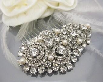 Pearl hair comb,Bridal hair jewelry,Wedding hair accessories,Bridal hairpiece,Wedding hair clip,Bridal headpiece,Wedding hair comb,Bridal