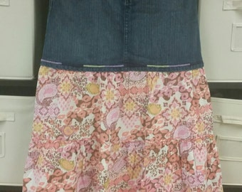 Crazy 8 girls size 14 jean skirt with adjustable waistband