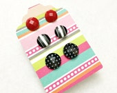 The most adorable little button earrings for sensitive ears by Jules Jewelry Box